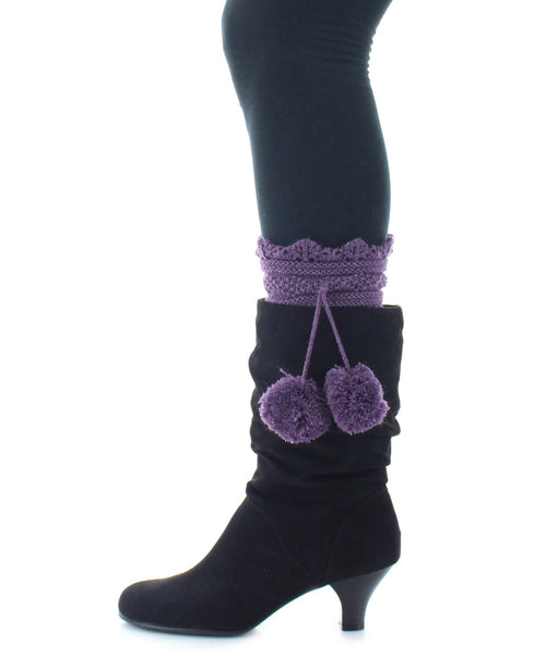 Boot Toppers | Knit Socks | Dot Diamond Pattern - MeMoi - 2