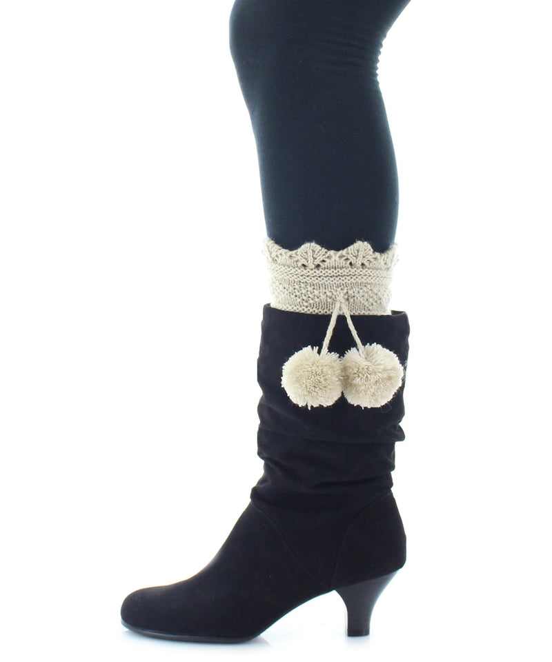 Boot Toppers | Knit Socks | Dot Diamond Pattern - MeMoi - 4