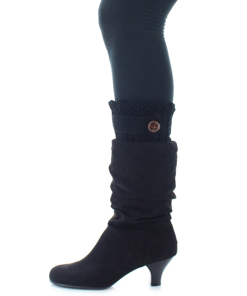 Boot Toppers | Knit Socks | Twist Ribbed Pattern - MeMoi - 2