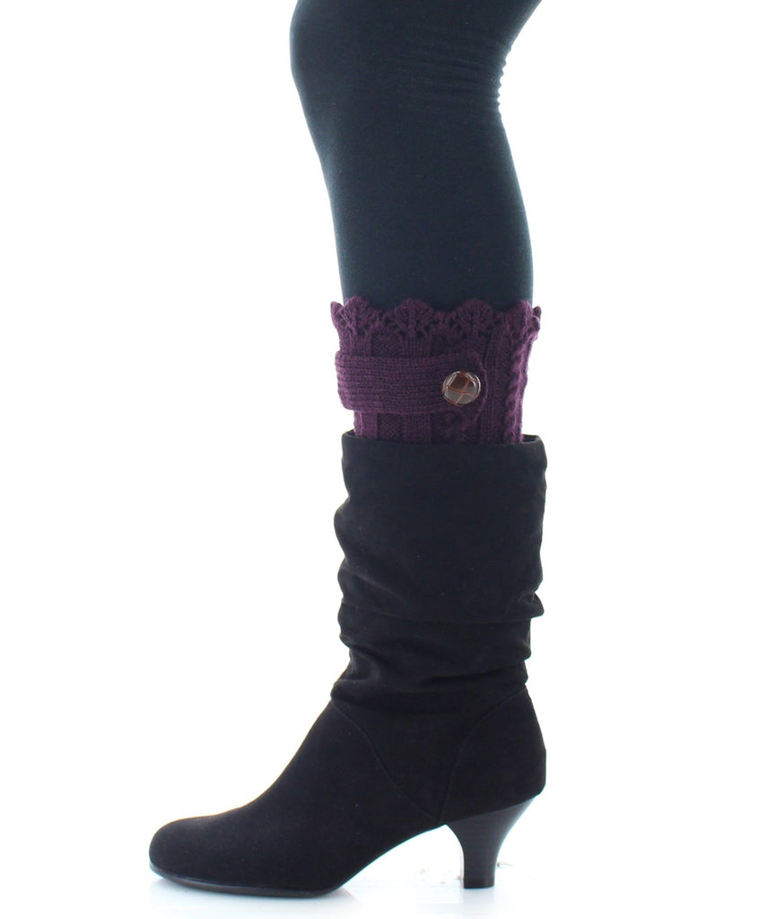 Boot Toppers | Knit Socks | Twist Ribbed Pattern - MeMoi - 3