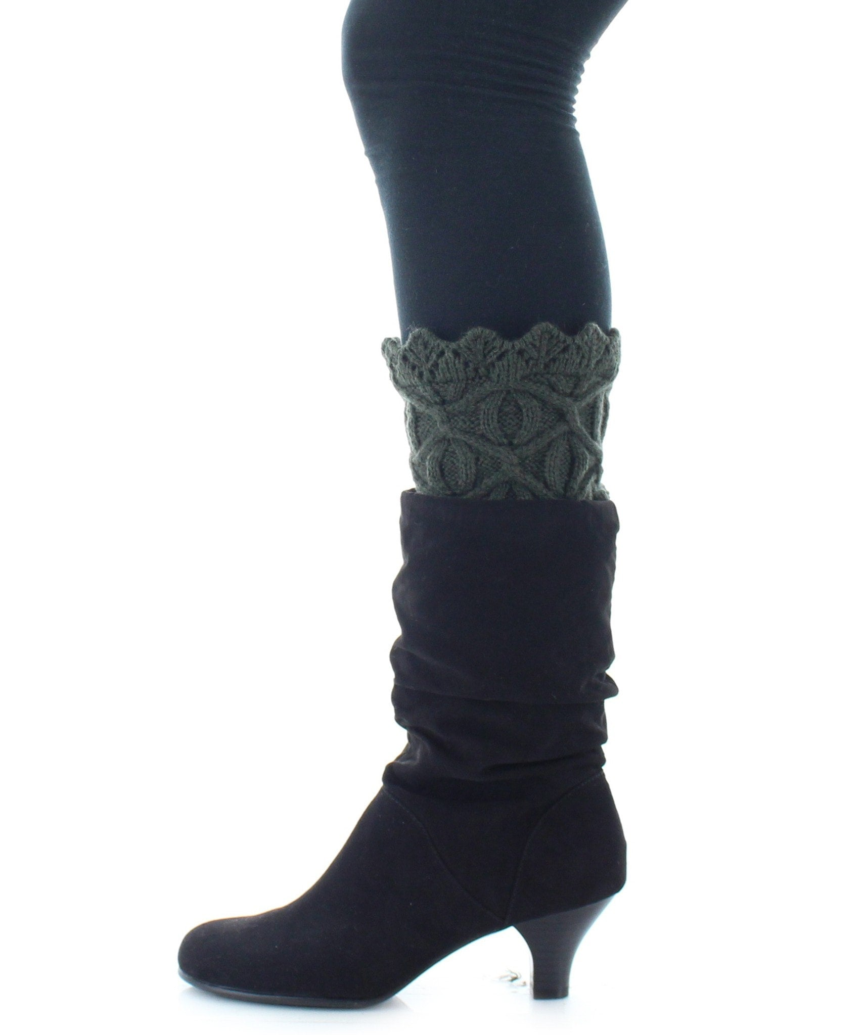 Boot Toppers | Knit Socks | Diamond & Circular Pattern - MeMoi - 3