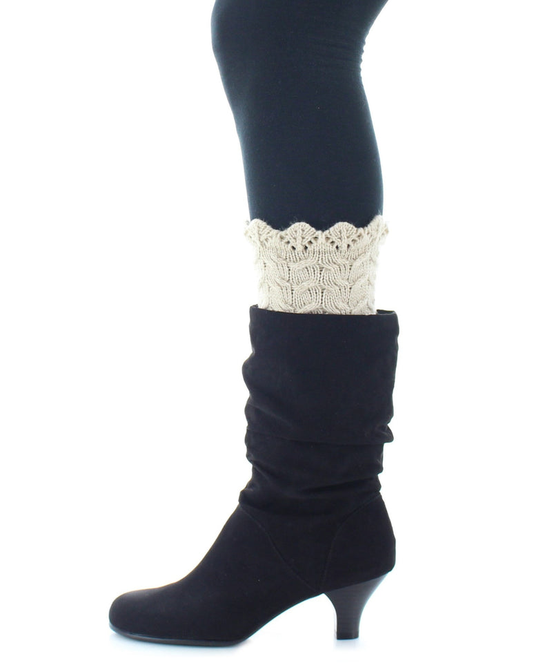 MeMoi Cable Knit Sock Boot Toppers