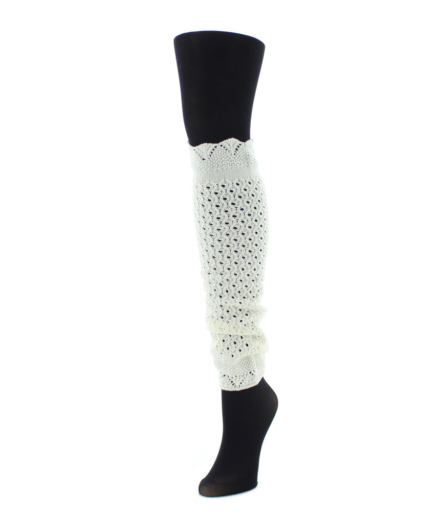 Interwoven Scalloped Classic Leg Warmer - MeMoi - 1