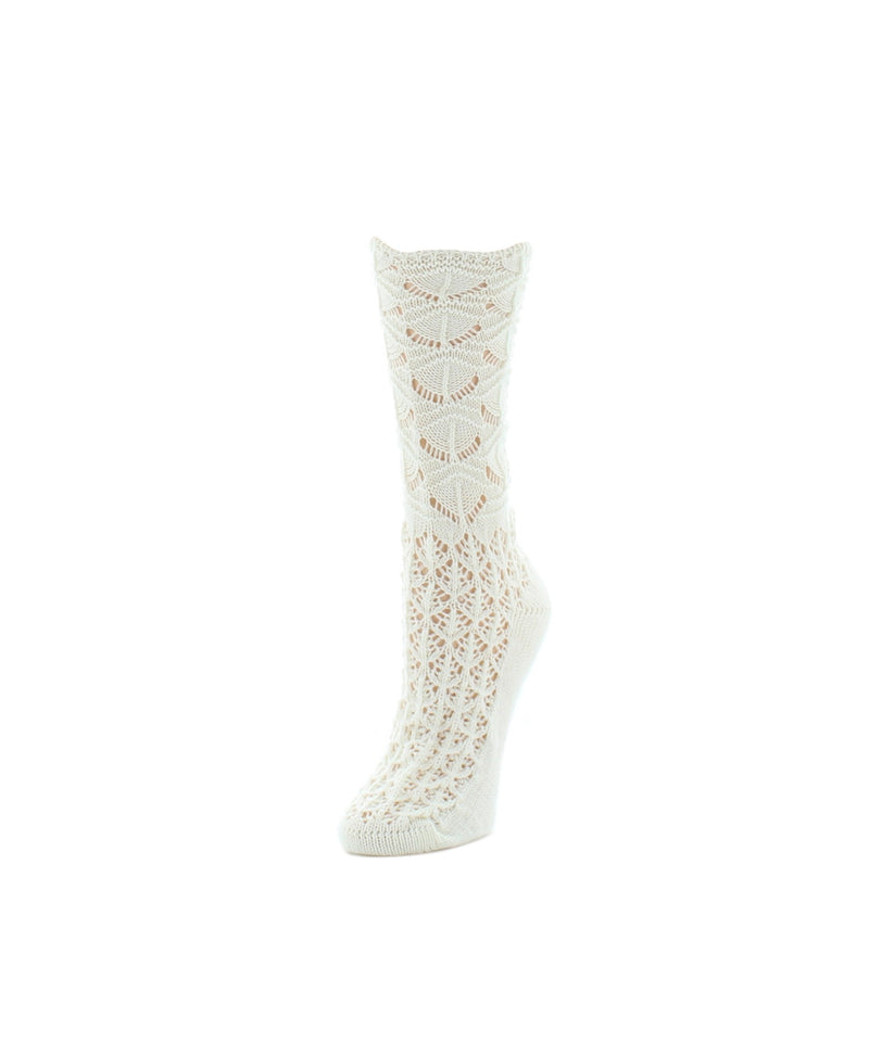MeMoi Waves Chunky Knit Crew Socks