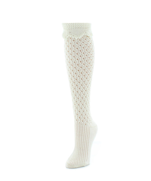 Waffle Chunky Knit Knee-High Socks - MeMoi - 2