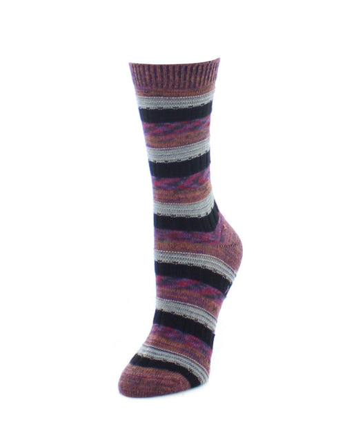 Boot Socks | Fuzzy Socks | Milticolor Spacedye Stripe - MeMoi - 1