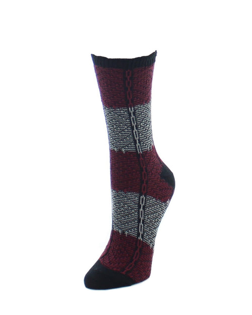 Boot Socks | Fuzzy Socks | Two Tone Diamond Stripe - MeMoi - 1