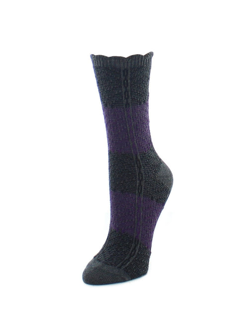 Boot Socks | Fuzzy Socks | Two Tone Diamond Stripe - MeMoi - 2