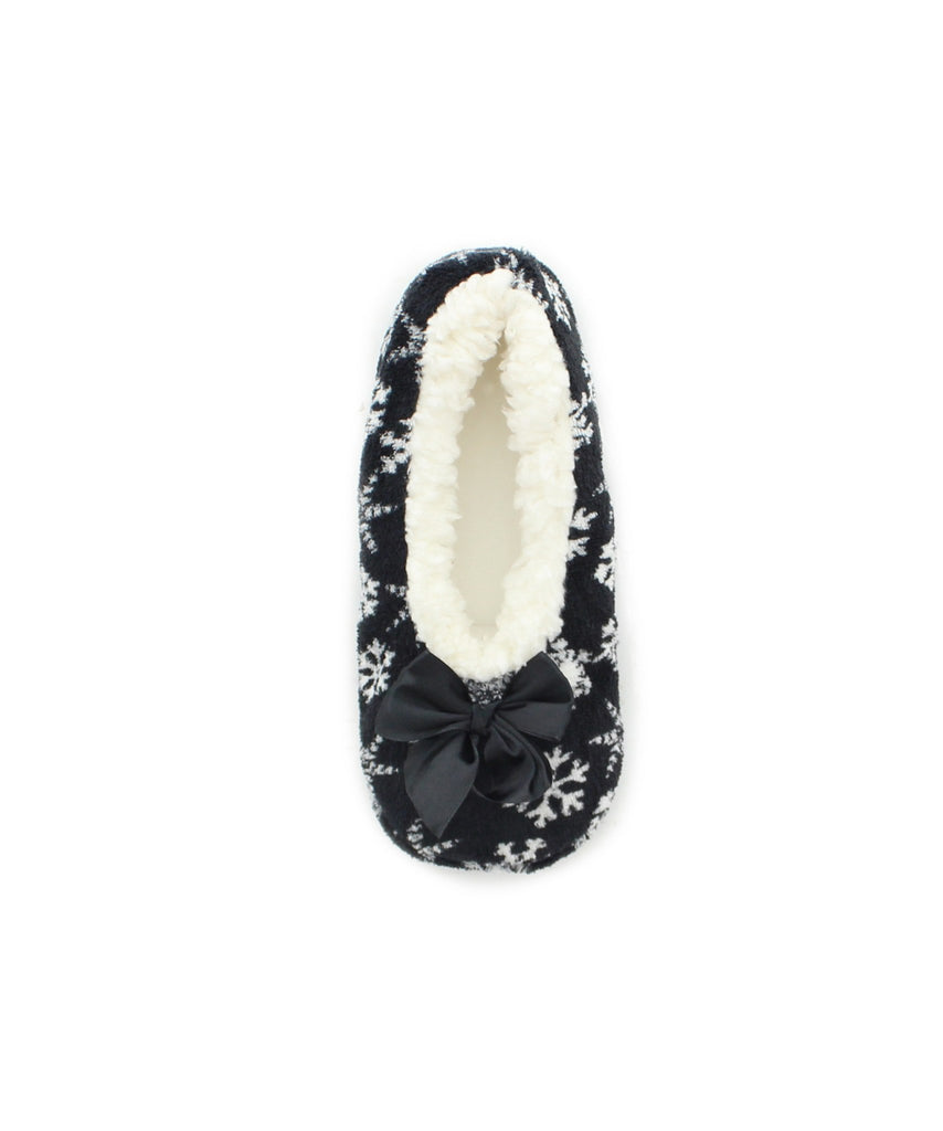 Holiday Snowflake Sherpa Lined Slippers - MeMoi - 1