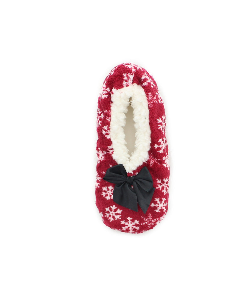 Holiday Snowflake Sherpa Lined Slippers - MeMoi - 2
