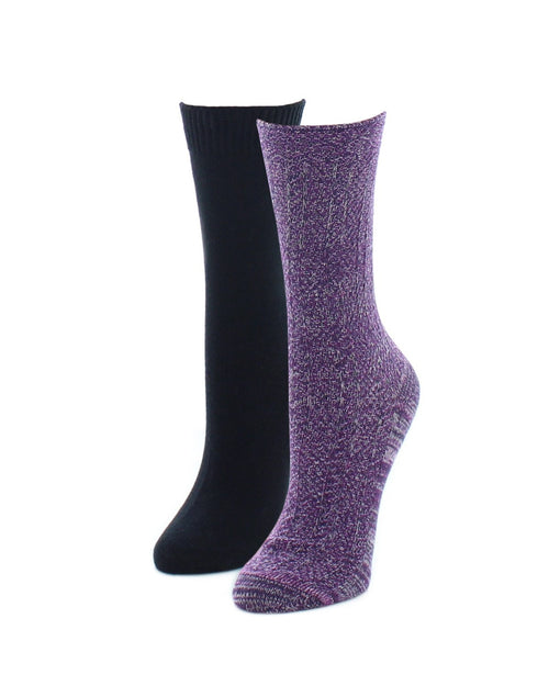 Boot Socks | Fuzzy Socks | Speckled Variety Pack - MeMoi - 2