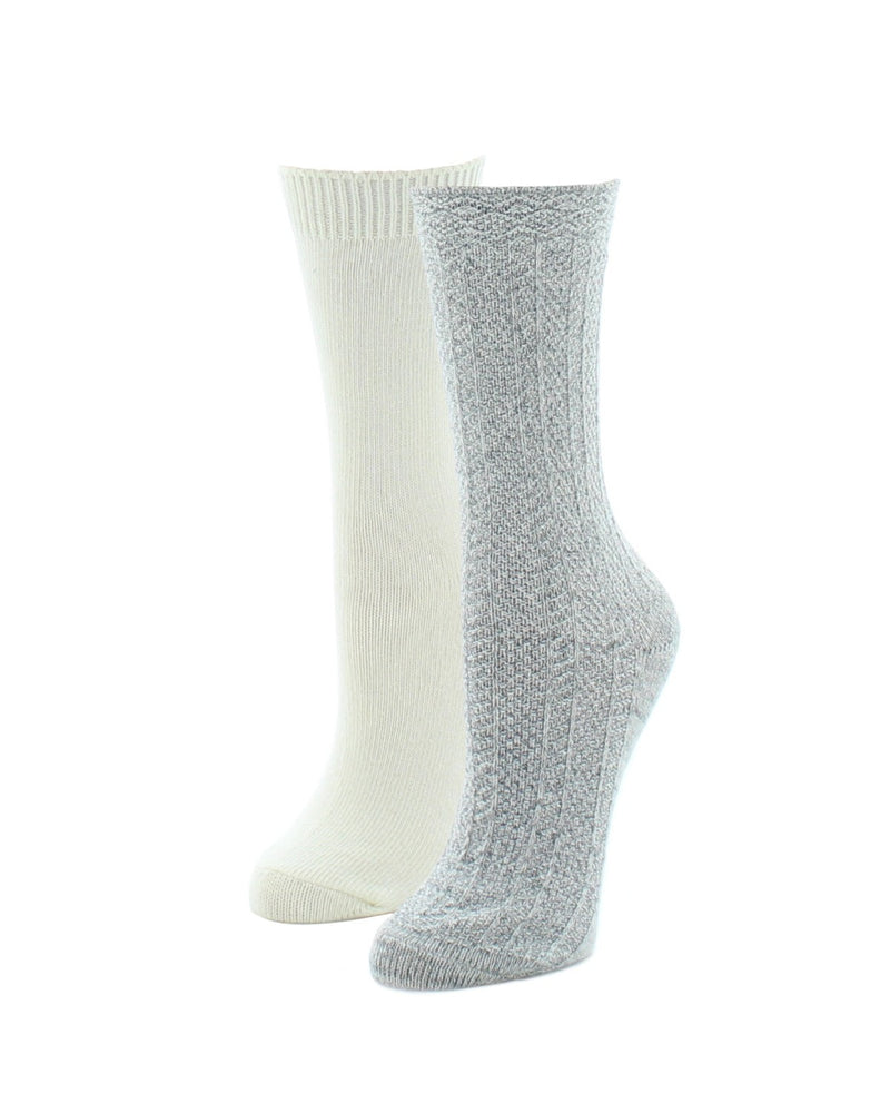 MeMoi Speckled Fuzzy Boot Socks 2-Pack