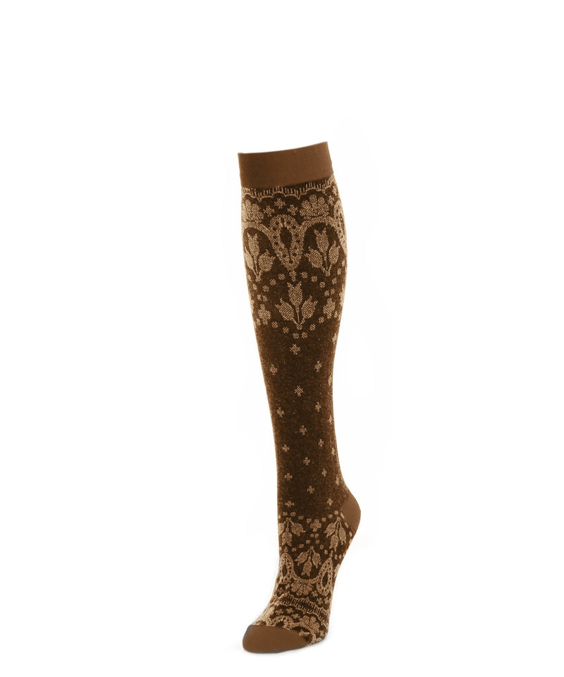 Knee High Socks | Womens Socks | Feather Print - MeMoi - 2