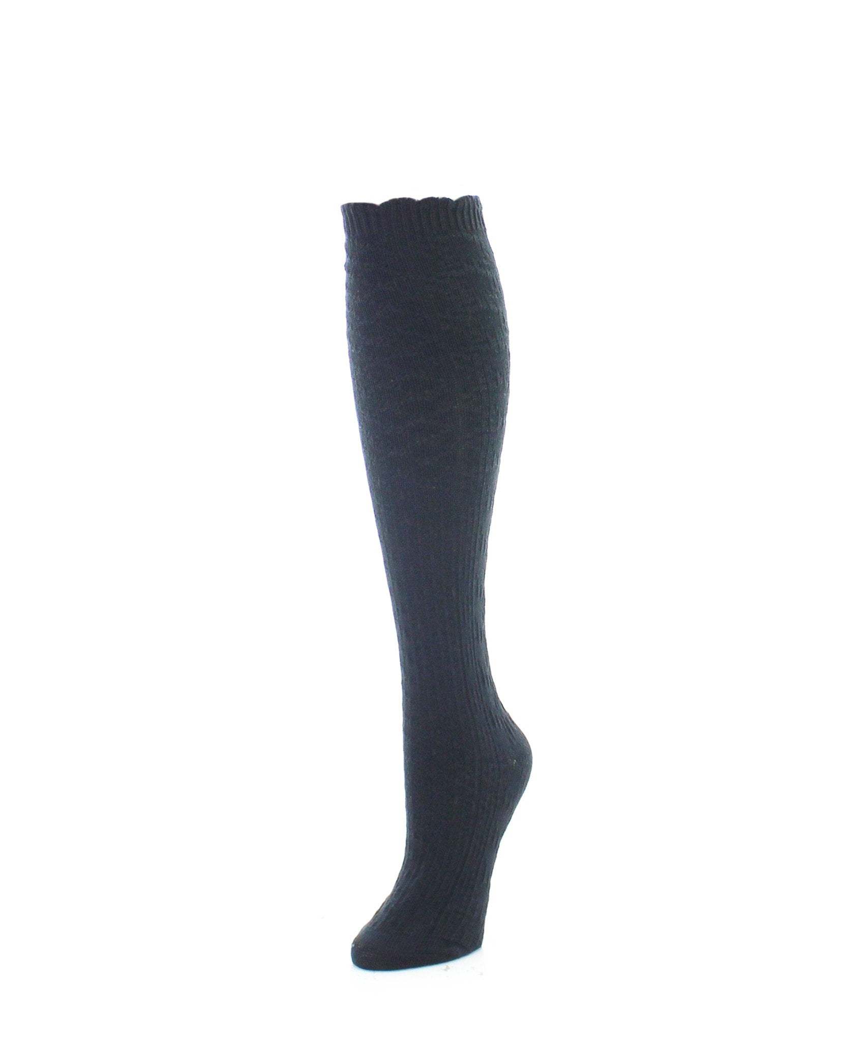 Knee High Socks | Women's Socks | Diamond Ridged - MeMoi - 1