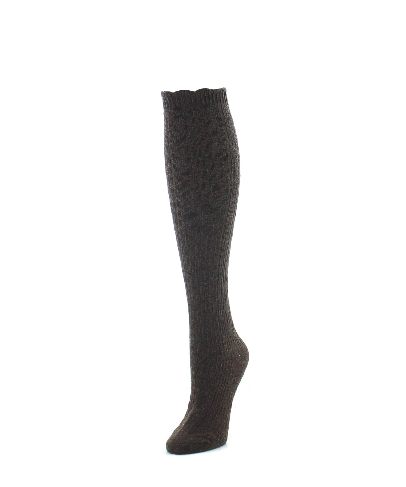 Knee High Socks | Women's Socks | Diamond Ridged - MeMoi - 2