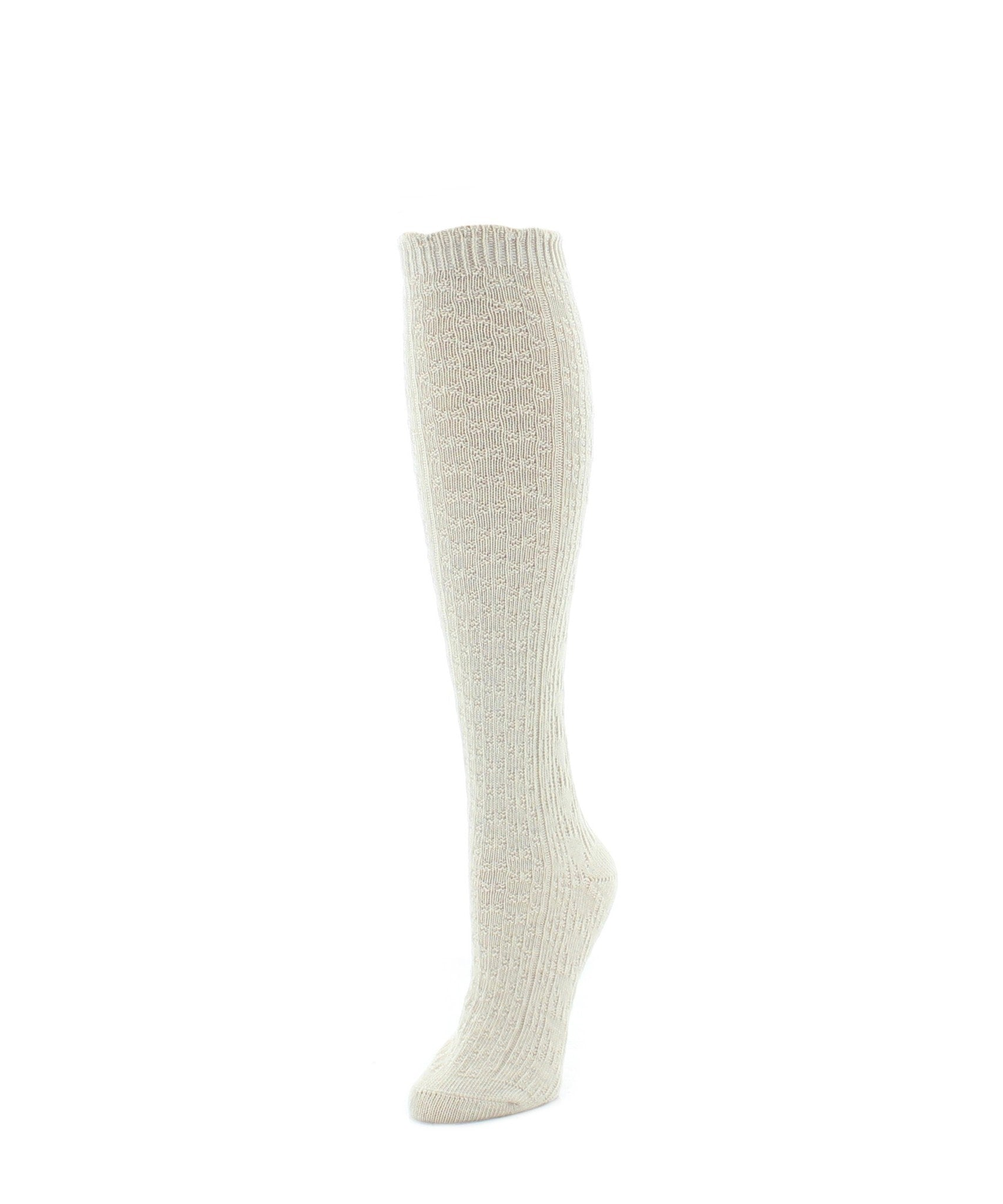 Knee High Socks | Women's Socks | Diamond Ridged - MeMoi - 4