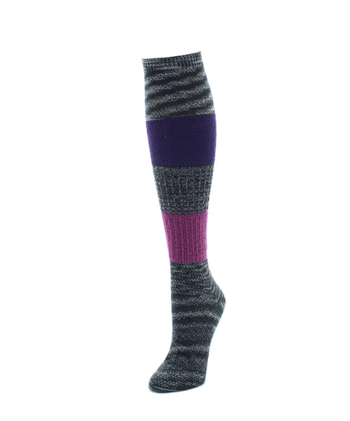 Knee High Socks | Women's Socks | Marled Combo Pattern - MeMoi - 1