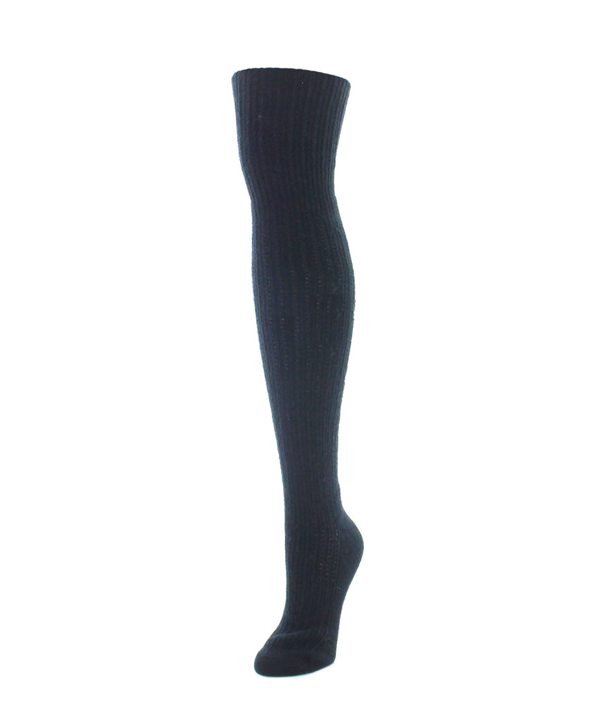 Over The Knee Socks | Women's Socks | Cable Rib - MeMoi - 1