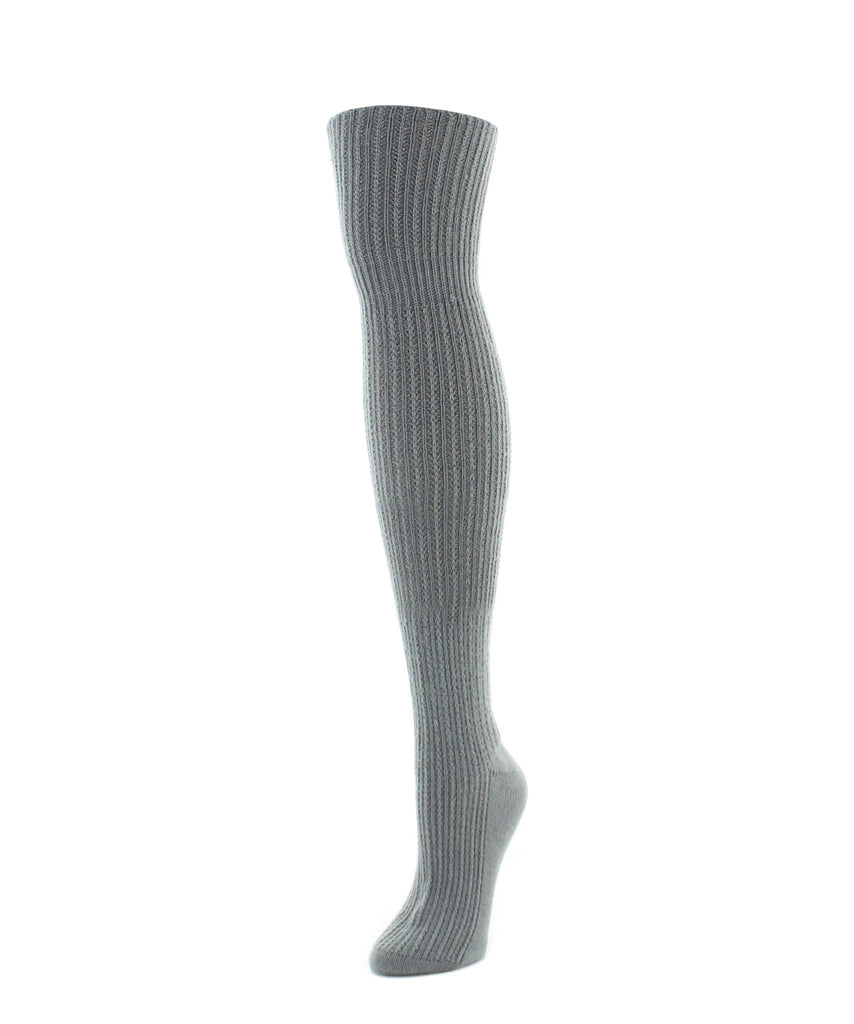 Over The Knee Socks | Women's Socks | Cable Rib - MeMoi - 3
