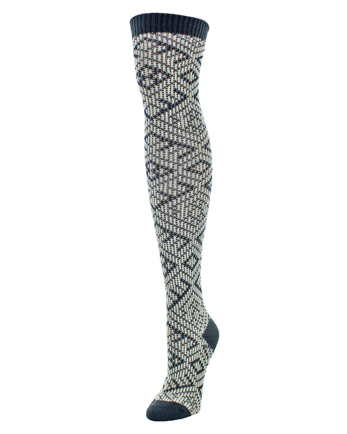 Checkers & Weaves Over The Knee Women Socks - MeMoi - 2