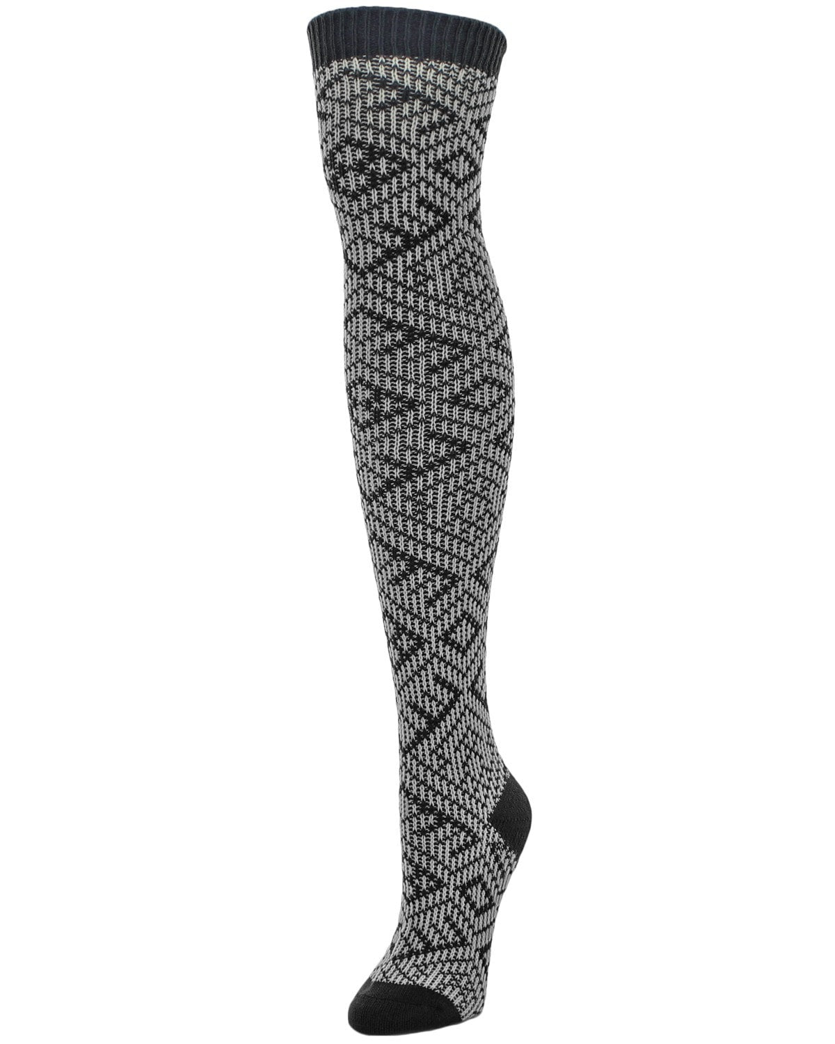 Checkers & Weaves Over The Knee Women Socks - MeMoi - 3