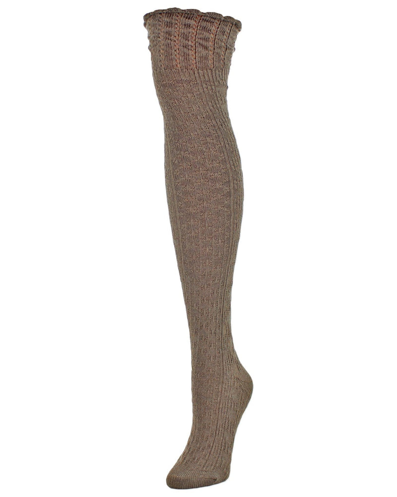 Honeycomb Bee Over The Knee Women Socks - MeMoi - 1