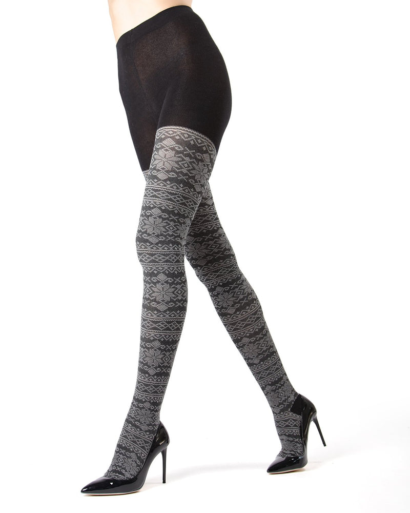 MeMoi Navy Blazer Selbu Sweater Tights | Women's Hosiery - Pantyhose - Nylons