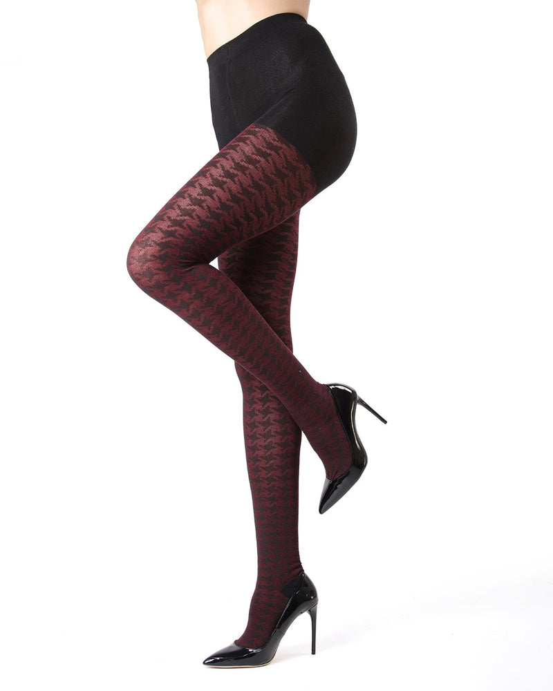 MeMoi Houndstooth Sweater Tights