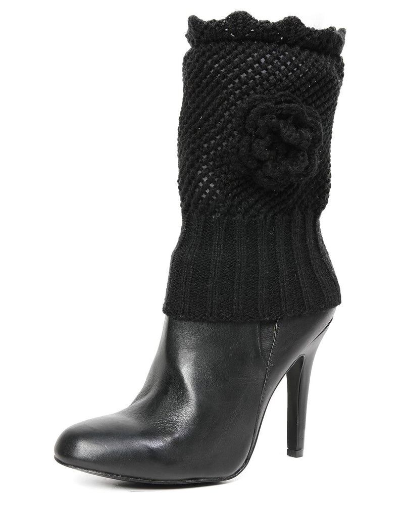MeMoi Cupid Knit Rosette Boot Topper
