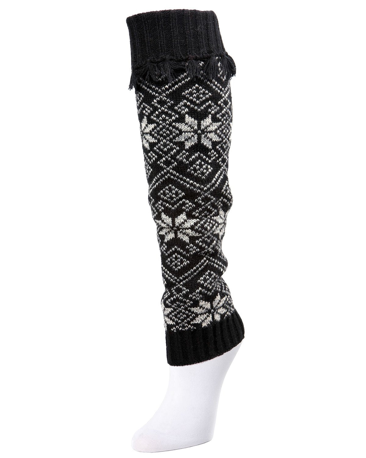 Alpine Fair Isle Selburose Fringed Leg Warmer