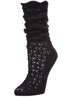 MeMoi Gateau Slouched Waves Knit Boot Sock