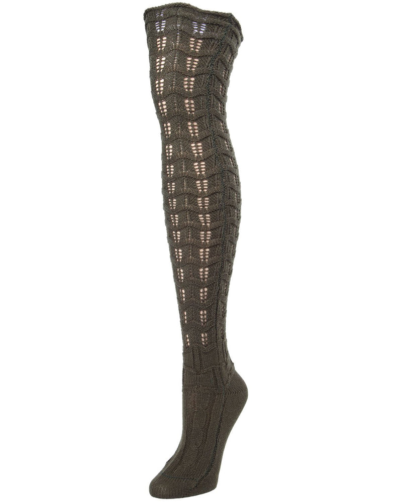 MeMoi Marzipan Chevron Knit Boot Socks