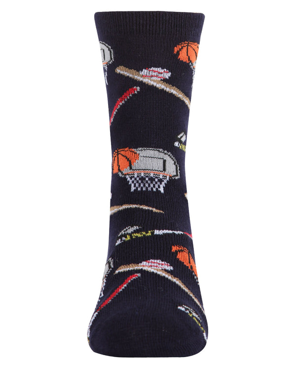 Sports Bamboo Blend Crew Socks | Tights By MeMoi®  | MFB-2004  |  Navy  1