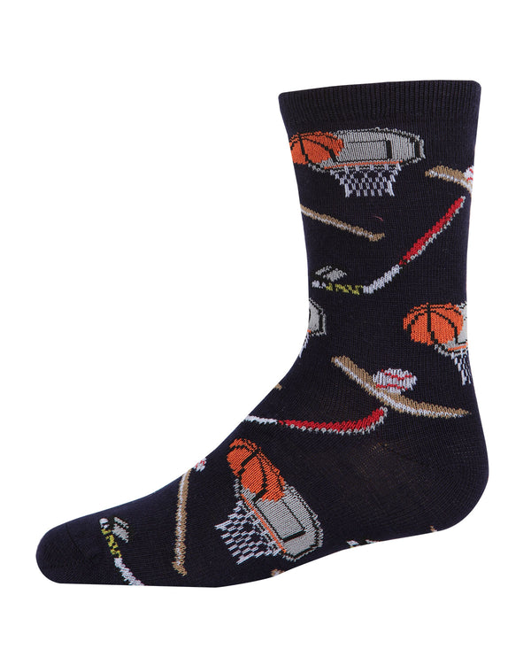 Sports Bamboo Blend Crew Socks
