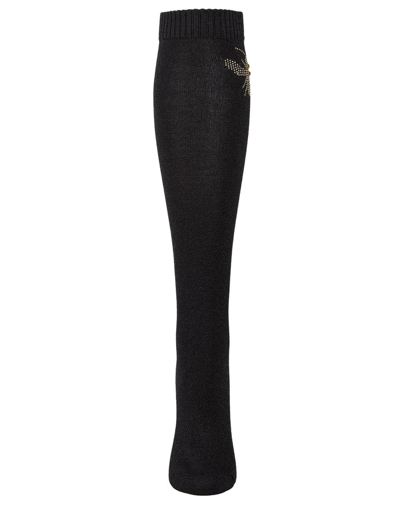 Bee Fabulous Knee High Socks | Knee High Socks for women | Socks & Tights - hosiery | Black MFF05352 -2