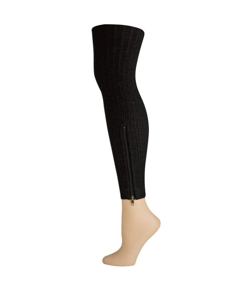 Zip It! Leggings Sweater Footless Tights - MeMoi - 2