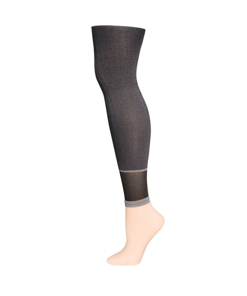 MeMoi Spunky Herringbone Fashion Footless Tights