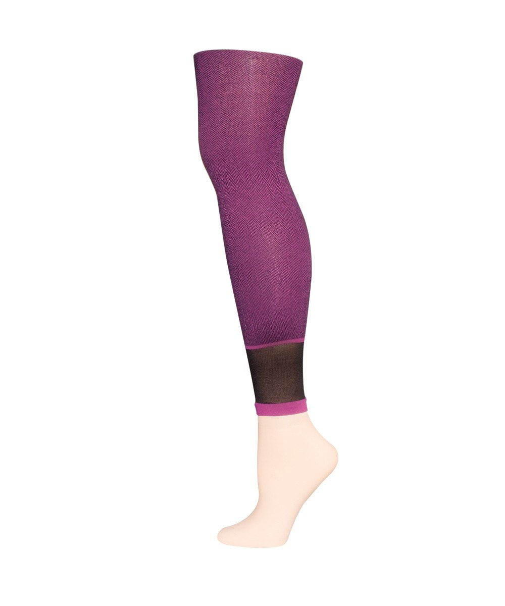 Spunky Herringbone Fashion Footless Tights - MeMoi - 3