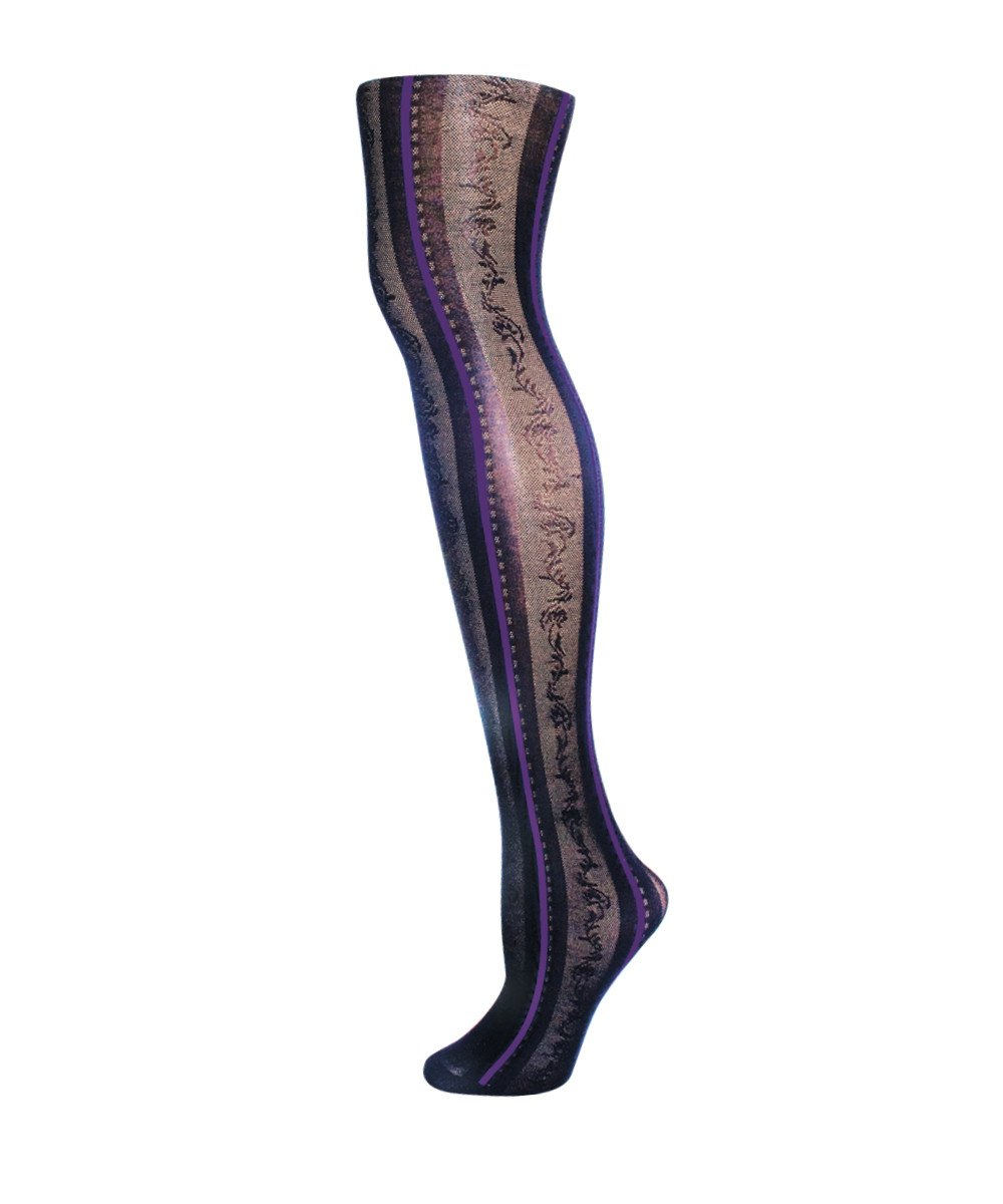 Linear Fashion Tights - MeMoi - 1