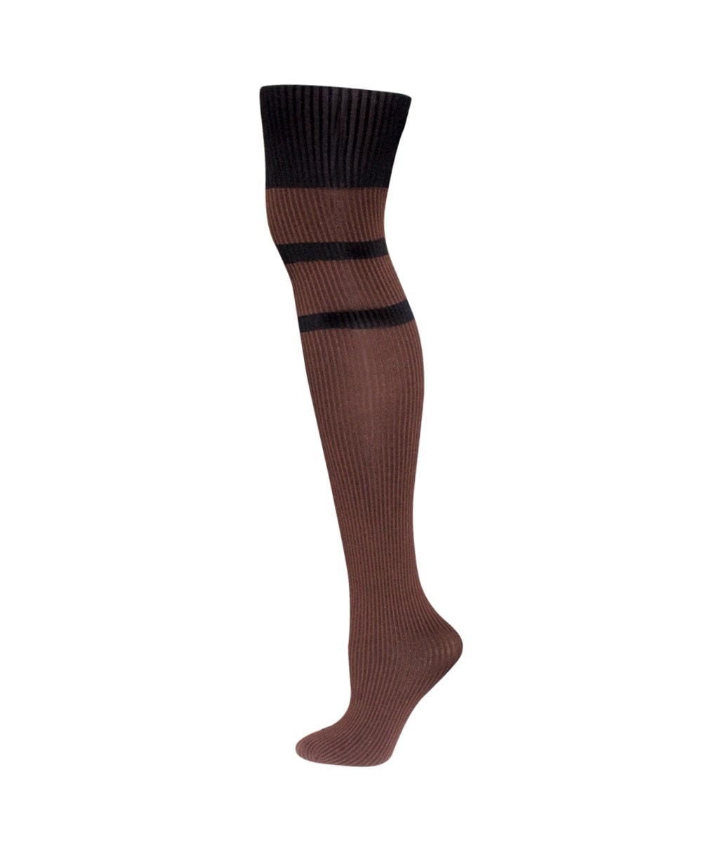 Double Liner Rib Fashion Tights - MeMoi - 1