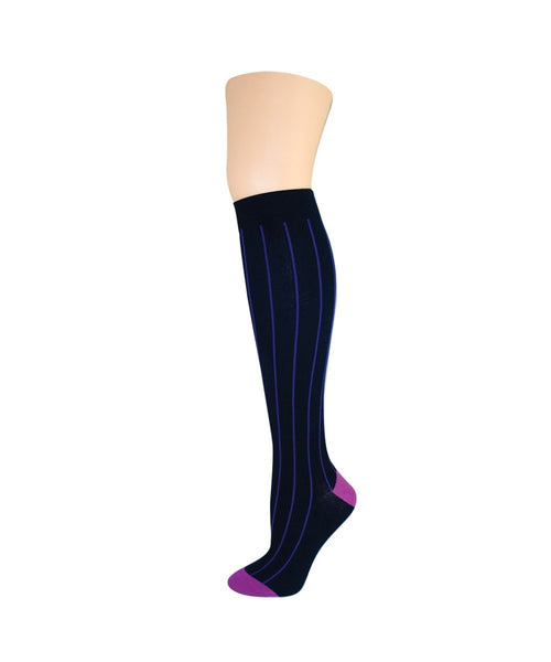 Hot Pinstripe Knee High - MeMoi - 1