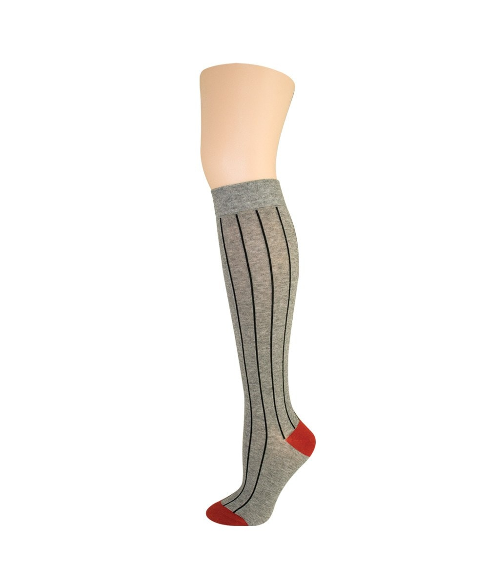 Hot Pinstripe Knee High - MeMoi - 2