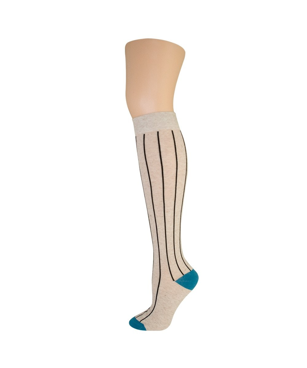 Hot Pinstripe Knee High - MeMoi - 5