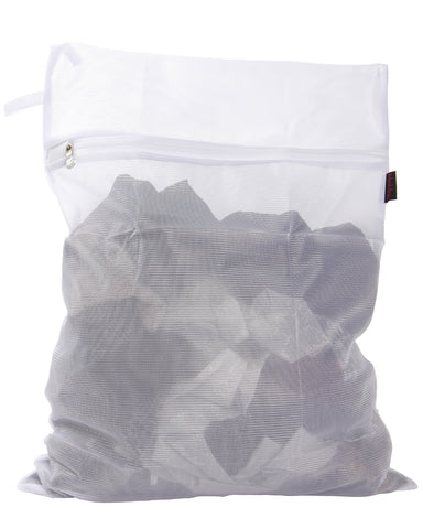 Delicates Laundry Bag | MeMoi mesh laundry bag for delicates | MG-550-Wht-MED | 802025056334