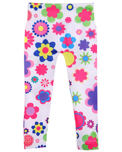 Floral Girls Leggings | Flower Leggings for Girls by MeMoi® | Multi MGS4 003