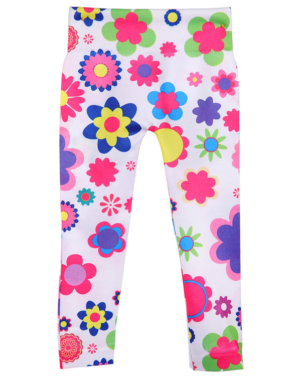 Flower Power Girls Leggings