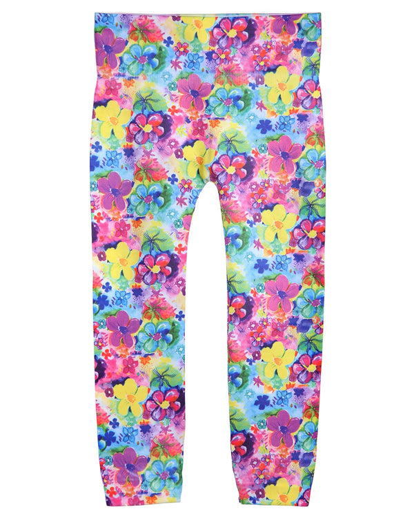 Floral Girls Leggings | Spring Fever Flower Leggings for Girls by MeMoi® | MeMoi Girls Pants | Multi MGS4 004