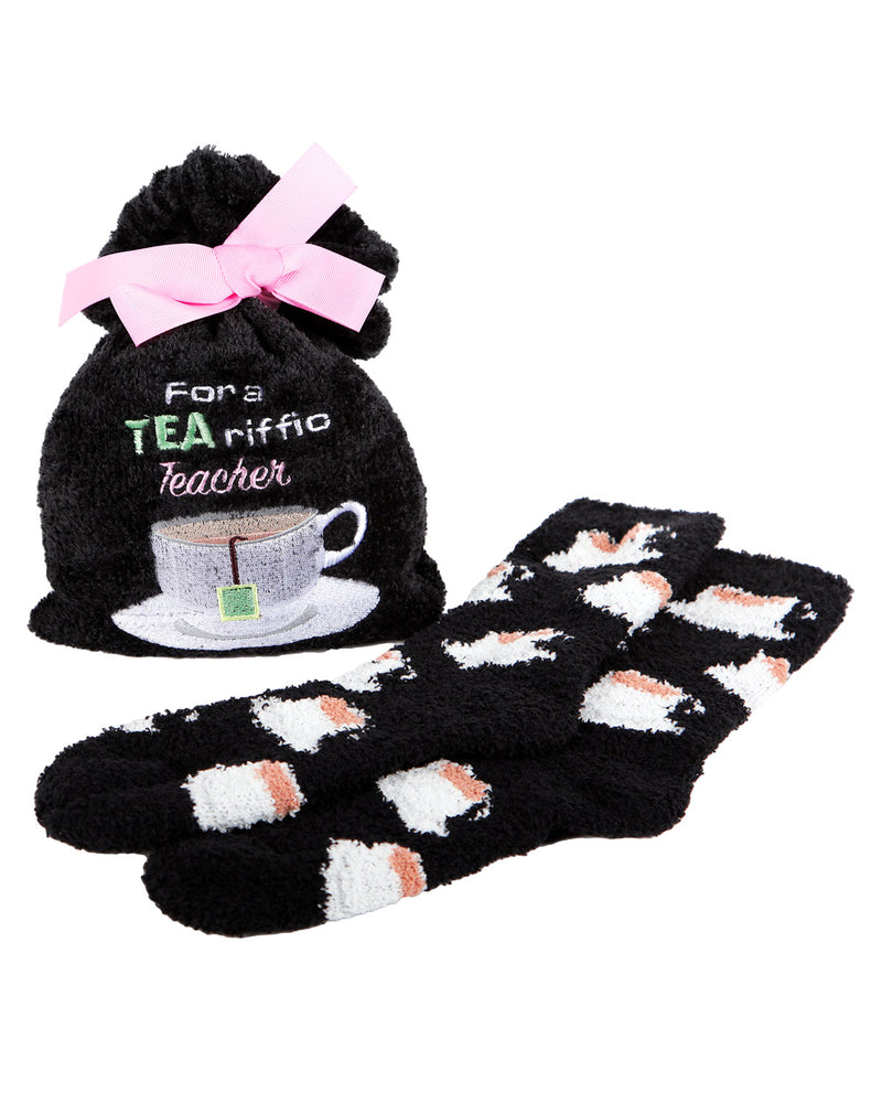 Tearrific Teacher Cozy Sock & Gift Bag Set | Gifts by MeMoi | MGV05550 | Black