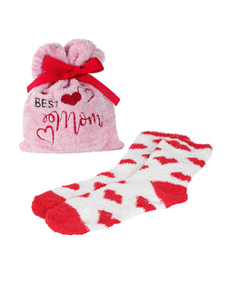 Best Mom Cozy Sock & Gift Bag Set | Socks By MeMoi®  | MGV05556 | Pink