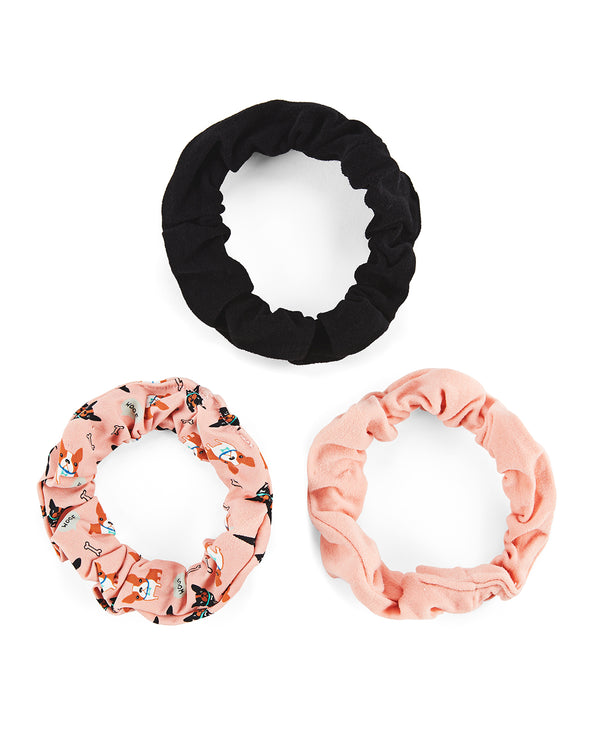 Dogs & Woof 3-Pack Scrunchies
